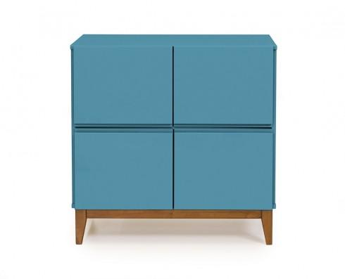 Buffet 4 Portas Home  -  Azul Turquesa