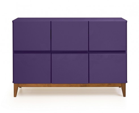 Buffet 6 Portas Home  -  Roxo
