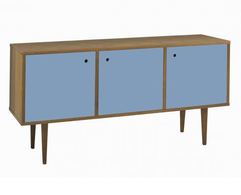 Buffet Vintage 3 Portas  -  Azul Claro
