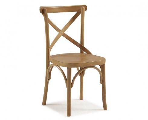 Cadeira X - Madeira Natural Clara