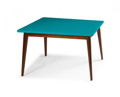 Mesa de Jantar Novita  120 x 90  -  Azul Turquesa