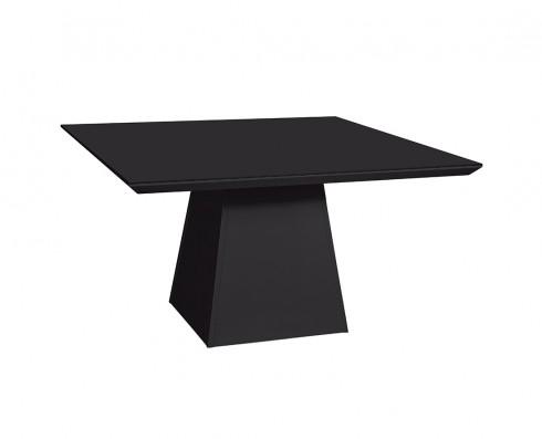Mesa de Jantar com tampo de vidro Preto Elisa -  Quadrada 1.50 x 1.50