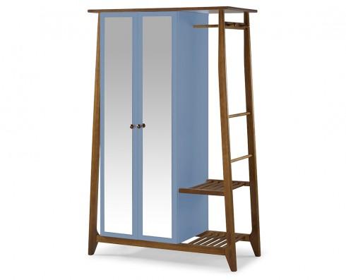 Armário Multiuso Stoka 2 portas  -  Azul Claro