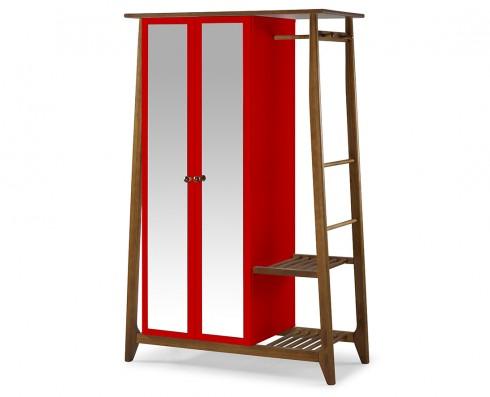 Armário Multiuso Stoka 2 portas  -  Vermelho