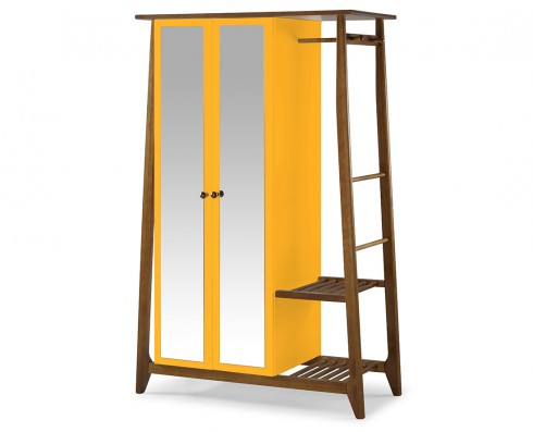 Armário Multiuso Stoka 2 portas  -  Amarelo