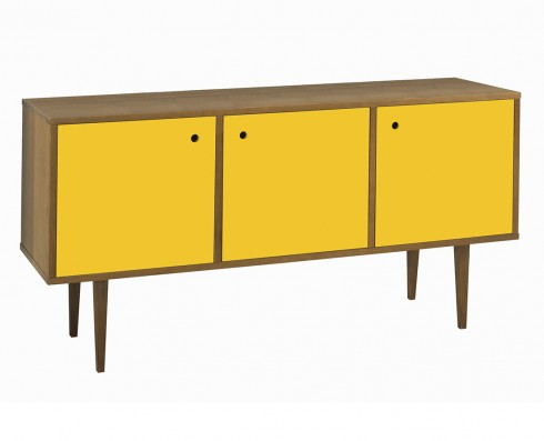 Buffet Vintage 3 Portas  -  Amarelo