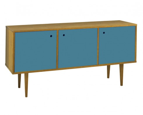 Buffet Vintage 3 Portas  -  Azul Turquesa
