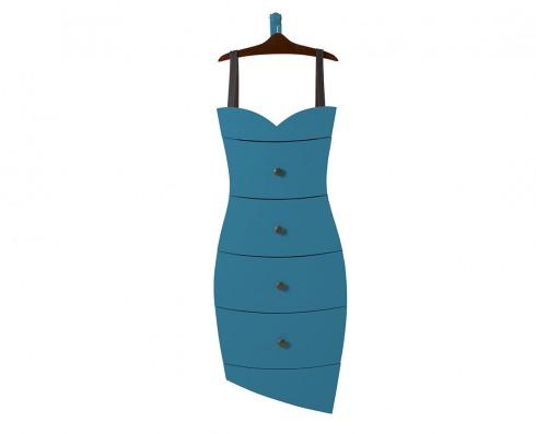 Cômoda Dress  - Azul turquesa
