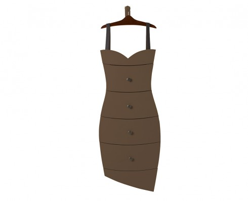 Cômoda Dress  -  Marrom Escuro