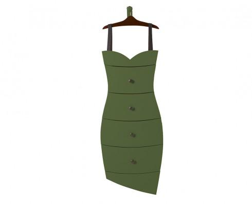 Cômoda Dress  - Verde Escuro