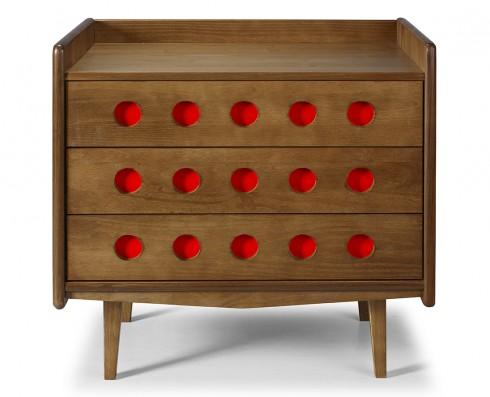 Cômoda Vintage   -  Vermelha