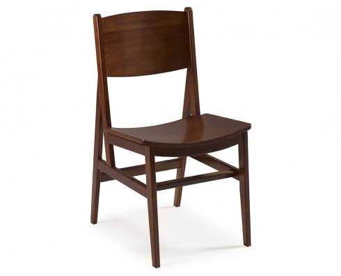Cadeira Dumon -  Madeira Natural Escura
