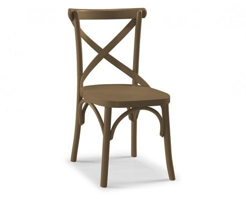 Cadeira X - Marrom Claro
