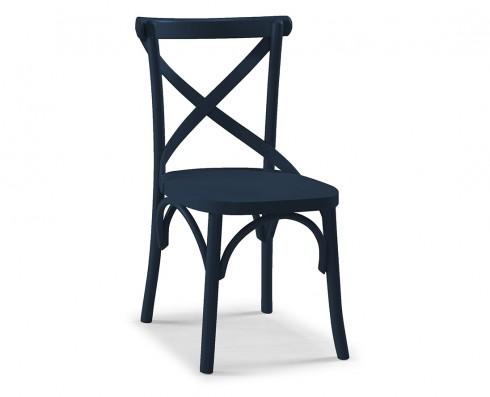 Cadeira X - Azul Escuro