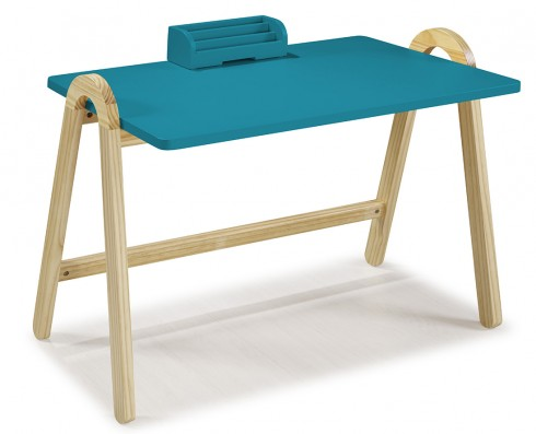 Escrivaninha Ringo  -  Azul Turquesa