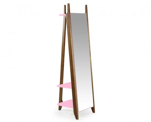 Espelho Stoka  -  Rosa Claro