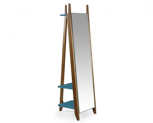 Espelho Stoka  -  Azul Turquesa