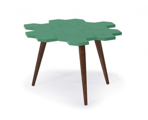 Mesa de Centro Colméia  -  Verde Esmeralda