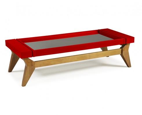 Mesa de Centro Crystal  -  Vermelha