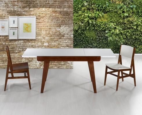 Mesa de jantar Extensível Maxi  -  Branca
