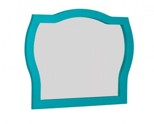 Moldura com espelho Jungle  -  Azul Turquesa