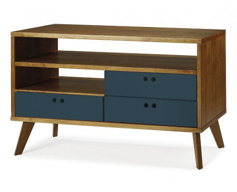 Rack Vintage Holly 120 cm  -  Azul Escuro