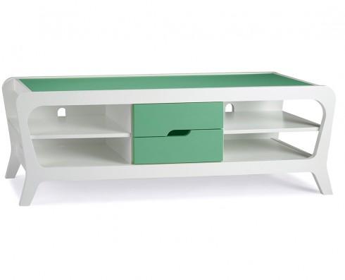 Rack Marley  -  Branco e Verde Esmeralda